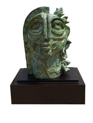 The Nature by Atish Mukherjee, Art Deco Sculpture | 3D, Bronze, White color