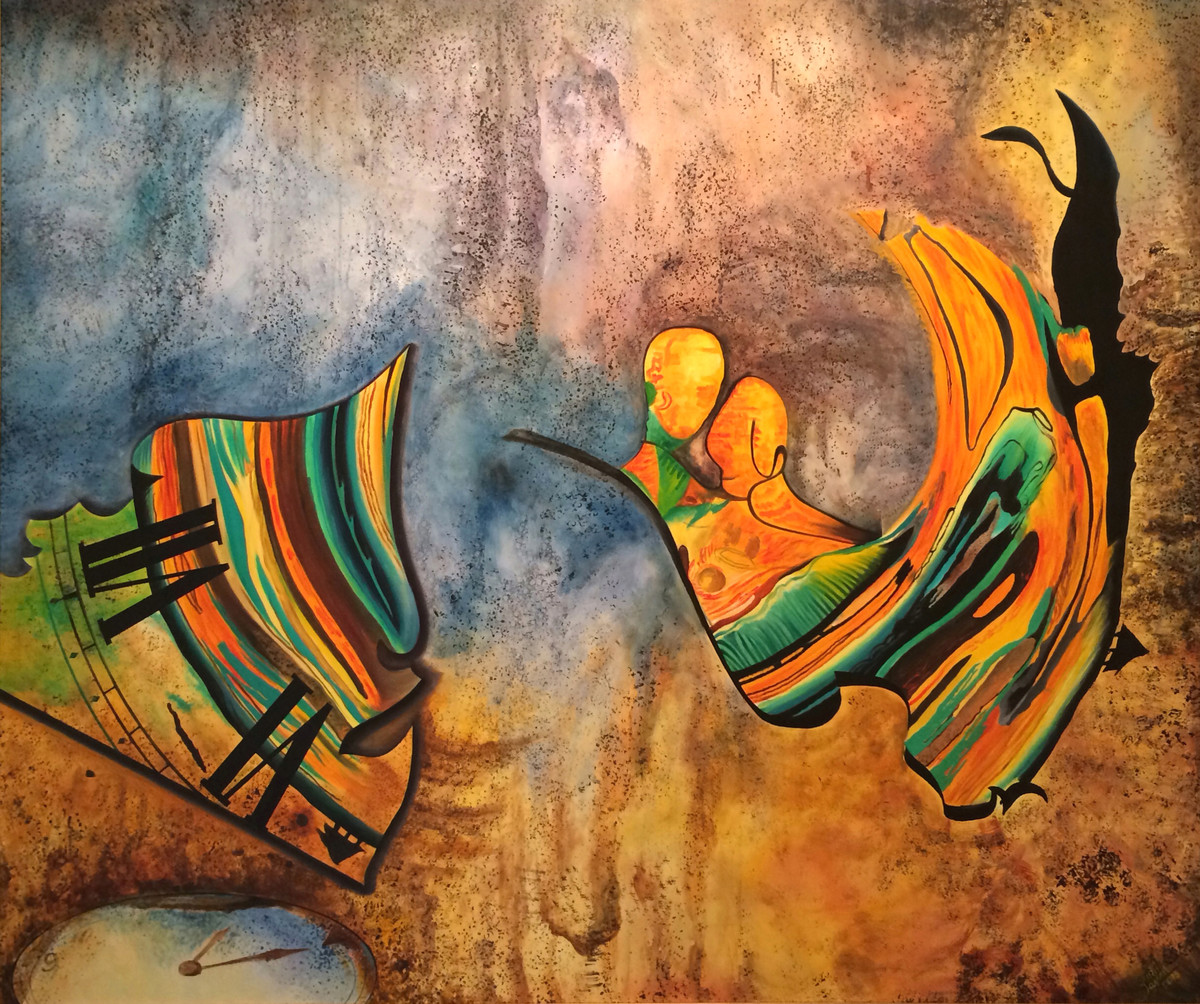 You Chose by Aarrti Zaveri, Surrealism Painting, Oil on Canvas, Brown color