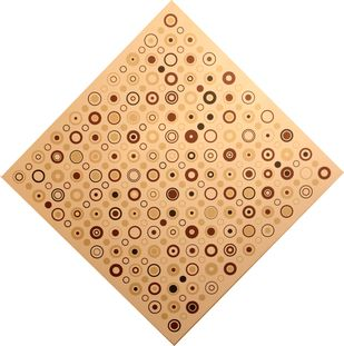 Individuality by A. Sreedharan, Geometrical Painting, Acrylic on Canvas, Beige color