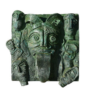 goddess kali by Atish Mukherjee, Art Deco Sculpture | 3D, Bronze, Green color