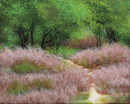 Leafy Paradise by Vimal Chand, Impressionism Painting, Acrylic on Canvas, Brown color