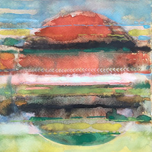 untitled by Selvam P, Abstract Painting, Watercolor on Paper, Mongoose color