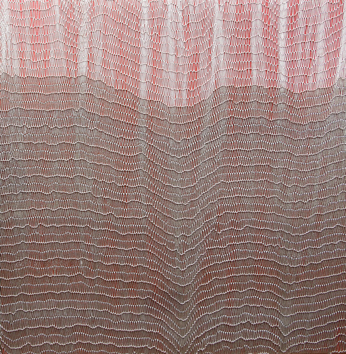 Untitled by Shobha Broota, Op Art Painting, Mixed Media, Brown color