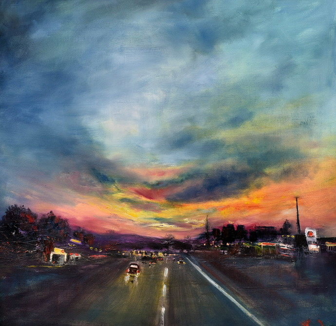 Skies At Dusk By Vandana Mehta