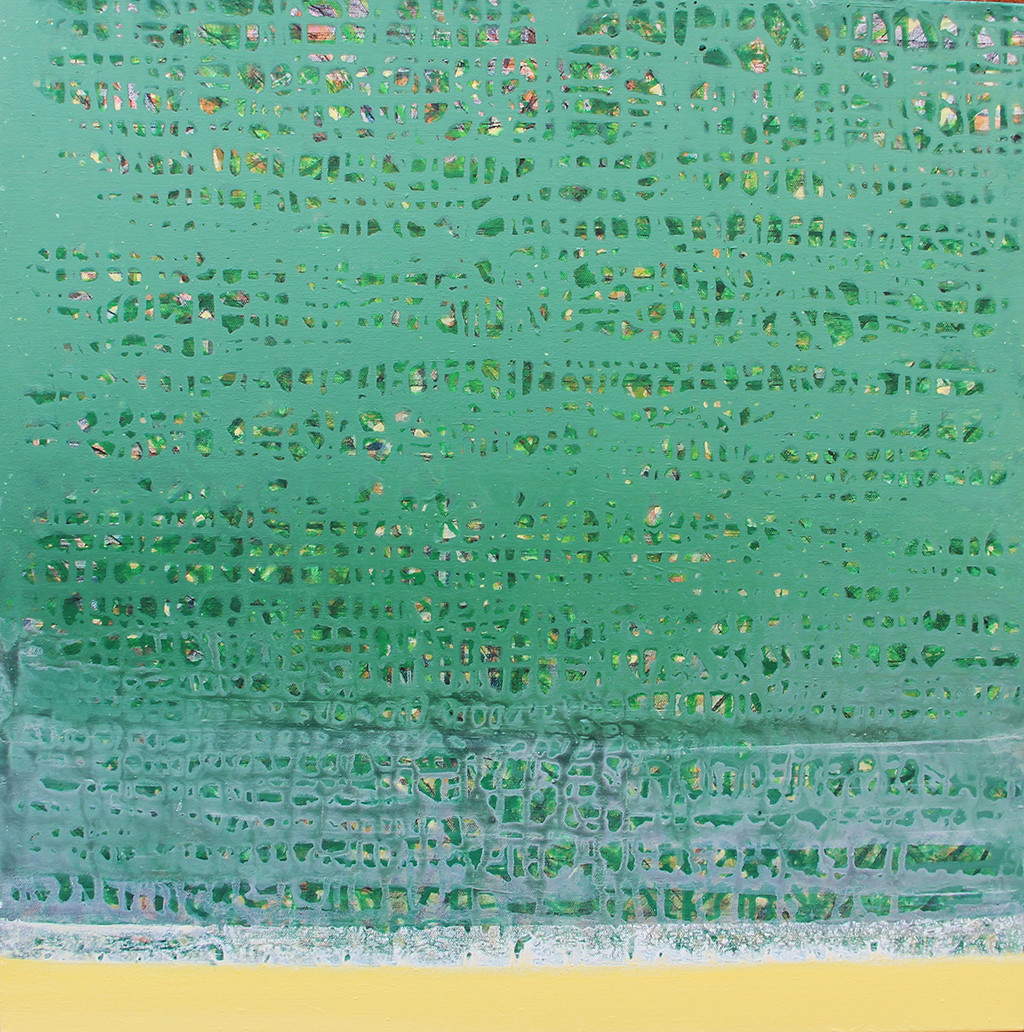 Behind the skin by Sonu Sandhu, Abstract Painting, Acrylic on Canvas, Green color