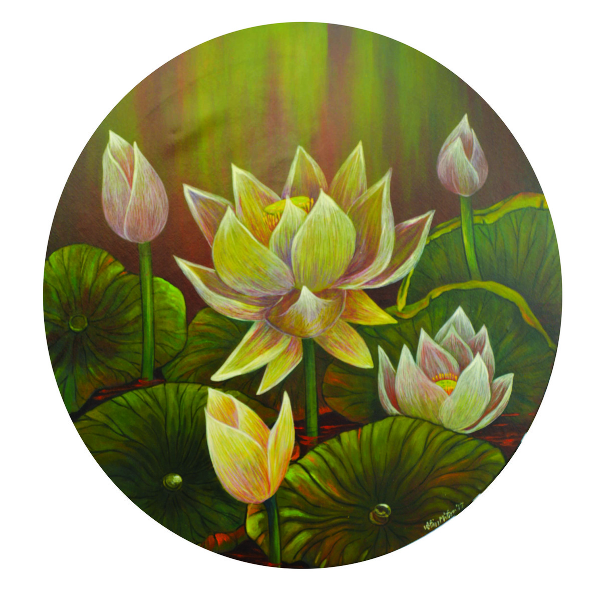 lotus 14 Digital Print by Atin Mitra,Impressionism