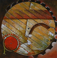 untitled by anupam pal, Impressionism Painting, Acrylic on Canvas, Brown color
