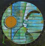 untitled by anupam pal, Decorative Painting, Acrylic on Canvas, Green color