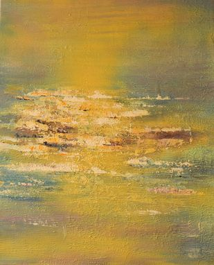 Daybreak by Mahesh Sharma, Abstract Painting, Acrylic on Canvas, Beige color