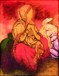 untitled by Vrindavan Solanki, Expressionism Painting, Acrylic on Canvas, Brown color