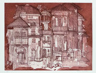 untitled by Vrindavan Solanki, Impressionism Painting, Etching on Paper, Brown color