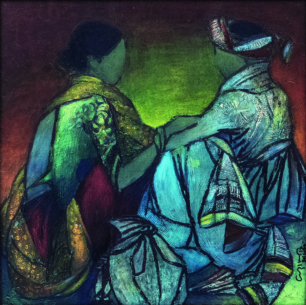untitled by Vrindavan Solanki, Expressionism Painting, Acrylic on Canvas, Green color