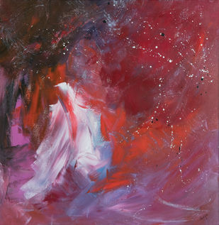 Blurred dreams 1 by Ankita Jain Gupta, Abstract Painting, Acrylic on Canvas, Brown color