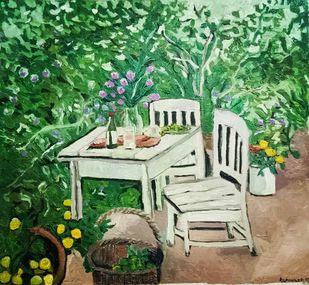 Fresh from the garden Digital Print by Rupinder kaur,Expressionism