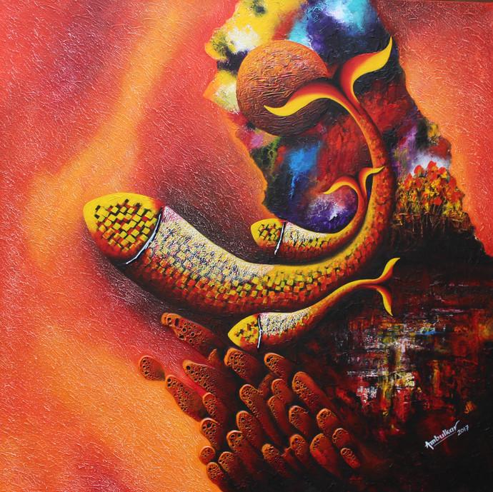 Mother & Child, Emotion Series-45 Digital Print by Sharad Ambulkar,Expressionism