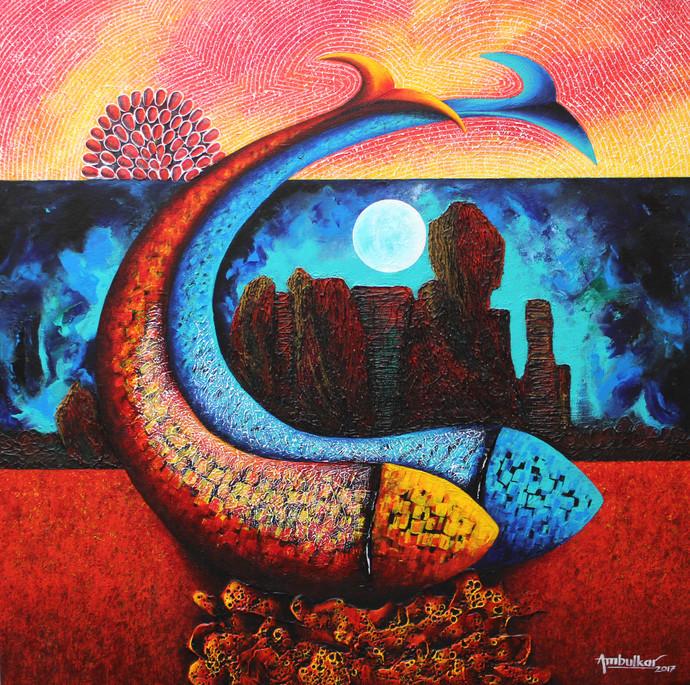 Emotions Series - 36 Digital Print by Sharad Ambulkar,Expressionism