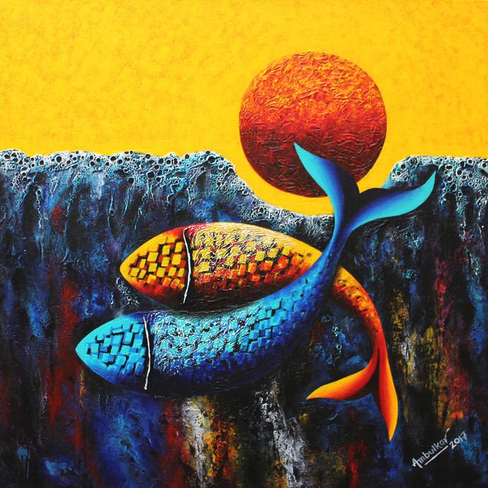 Emotions Series - 58 Digital Print by Sharad Ambulkar,Expressionism