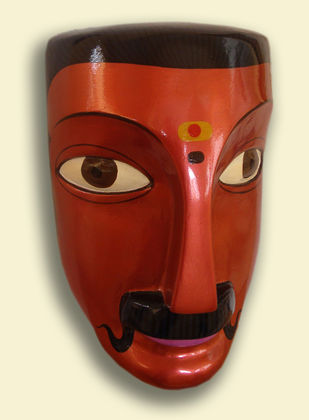 Man by Kandi Narsimlu, Art Deco Sculpture | 3D, Fiber Glass, Beige color