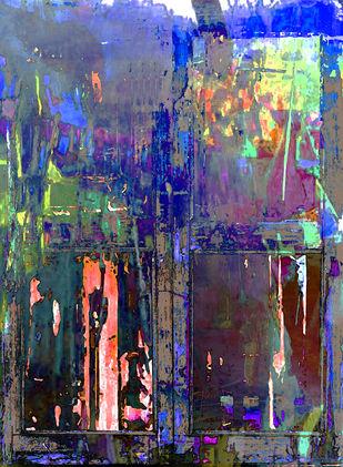 Momentary Landscape by Abhishek Kumar, Abstract Digital Art, Digital Print on Canvas, Blue color