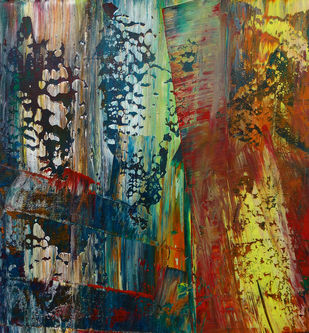 Untitled-12 by Abhishek Kumar, Abstract Painting, Acrylic on Paper, Brown color