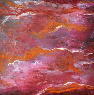 Coral by Manpreet , Abstract Painting, Oil on Canvas Board, Brown color