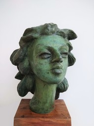 FLAWLESS BEAUTY by BASUDEB BISWAS, Art Deco Sculpture | 3D, Bronze, Gray color