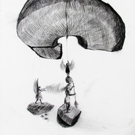 Umendra pratap singh  9x12 inch  charcol on paper 2010  mcp3685