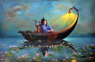 Royal Raas Night - Part 1 Digital Print by Hitesh Hariom,Fantasy