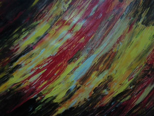 Magma finger printing by Broti Ganguly, Abstract Painting, Acrylic on Canvas, Green color
