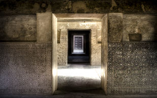 Doorways to the Past by Gautam Vir Prashad, Image Photography, Giclee Print on Hahnemuhle Paper, Brown color