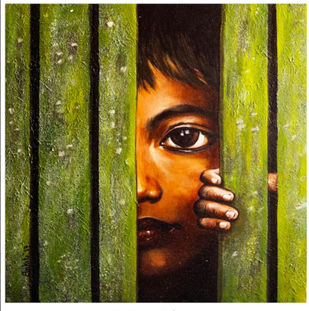 Mauka by Ankita Sancheti, Expressionism Painting, Acrylic on Canvas, Green color