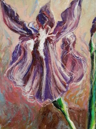Iris Digital Print by Shalini Sinha,Impressionism