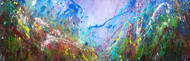 Incidental Literature of Nature by Anshu, Expressionism Painting, Acrylic on Paper, Cyan color