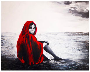 A Story Untold by Ankita Sancheti, Expressionism Painting, Acrylic on Board, Gray color