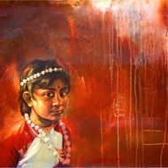 Harisadhan dey    oil on canvas  30x30 inch 2009  mcp0595 60 000