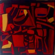 Hollow by Shruti Vij, Cubism Painting, Acrylic on Canvas, Brown color