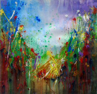 Valley of Love Digital Print by Anshu,Abstract