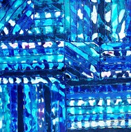 ALIEN CODES by Baljit Singh Chadha, Abstract Painting, Acrylic on Canvas, Blue color