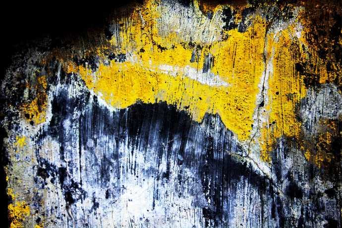 Speaking walls 3 by Sayali, Image Photography, Digital Print on Canvas, Blue color