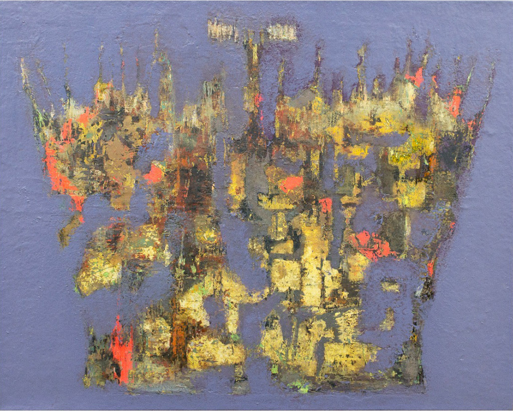 Sovereignty feeds on change by Sonu Sandhu, Abstract Painting, Mixed Media on Canvas, Brown color