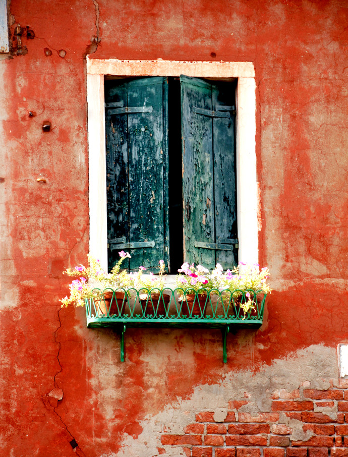 Window 1 by Sayali, Image Photography, Digital Print on Canvas, Brown color