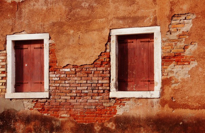 Window 3 by Sayali, Image Photography, Digital Print on Canvas, Brown color