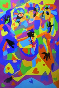 Best Friends Digital Print by Rajat Verma,Pop Art