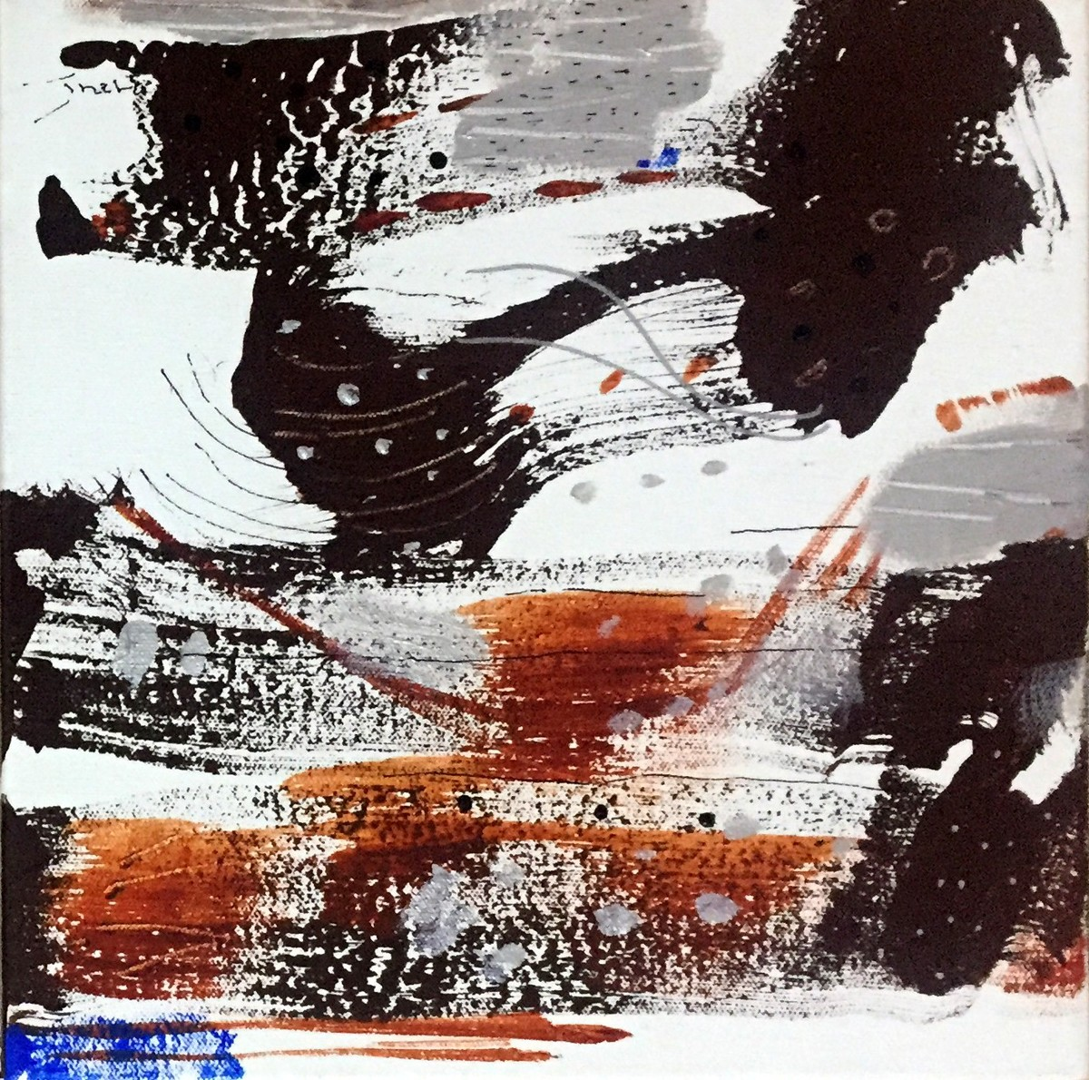 Untitled by Shridhar Iyer, Abstract Painting, Acrylic on Canvas, Gray color