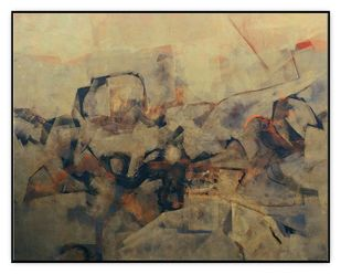 BRIGHT SIDE OF BLACK by Satyabrata Adhikary, Abstract Painting, Acrylic on Canvas, Brown color