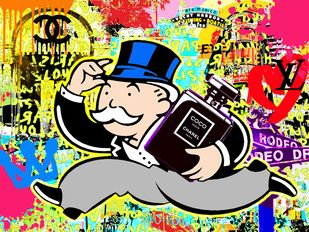 monopoly's coco by Sanuj Birla, Pop Art Digital Art, Digital Print on Canvas, Beige color