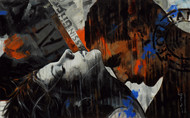 Stamp series -211 by Devidas Dharmadhikari, Expressionism Painting, Acrylic on Canvas, Gray color