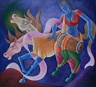 Untitled Digital Print by Ram Rokade,Expressionism