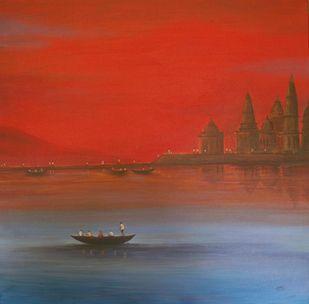 Seascape -32 Digital Print by Atul Virkar,Impressionism