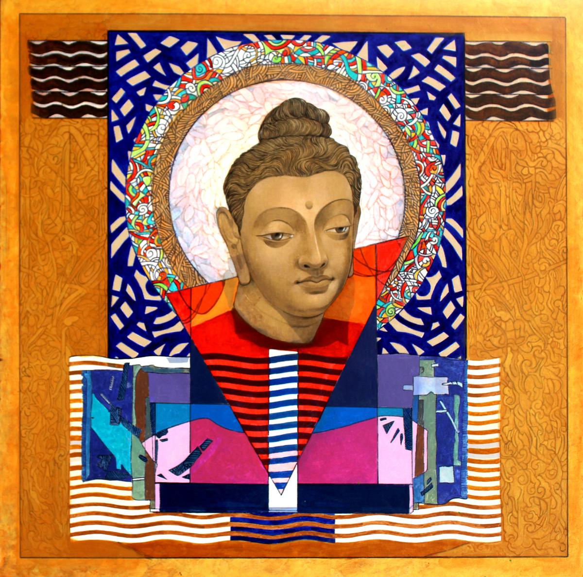 Enlightened Buddha 3 Digital Print by Deepankar Majumdar,Expressionism